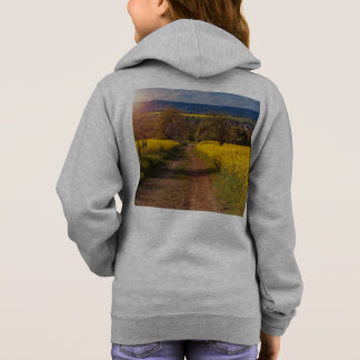 A canola field in spring hoodie