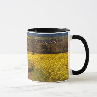 A canola field in spring mug