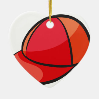 a cap ceramic heart decoration