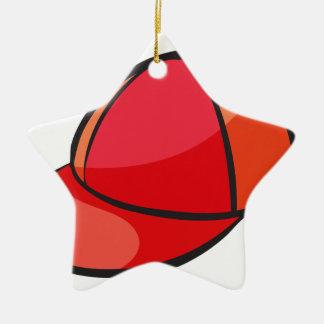 a cap ceramic star decoration