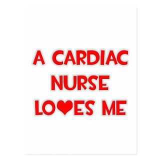 A Cardiac Nurse Loves Me Post Card