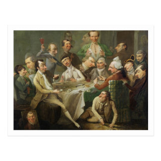 A Caricature Group, c.1776 (oil on canvas) Postcard