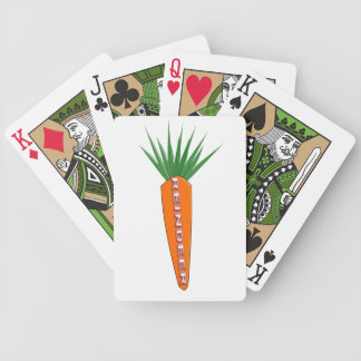 A Carrot for Christmas Reindeer Playing Cards
