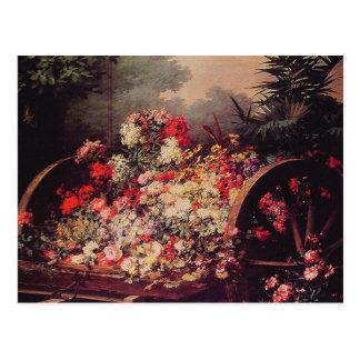 A Cart of Flowers Postcard