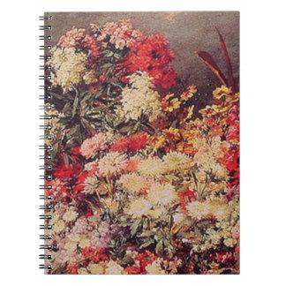 A Cart of Flowers Spiral Notebooks