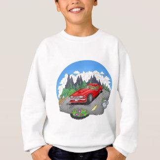 A cartoon illustration of a car. sweatshirt