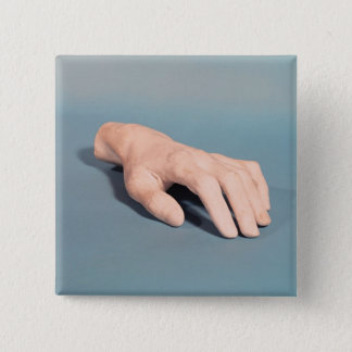 A cast of the hand of Frederic Chopin 15 Cm Square Badge