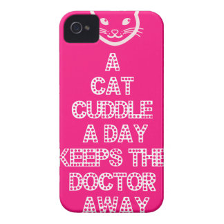 A Cat Cuddle A Day Keeps The Doctor Away Case-Mate iPhone 4 Case