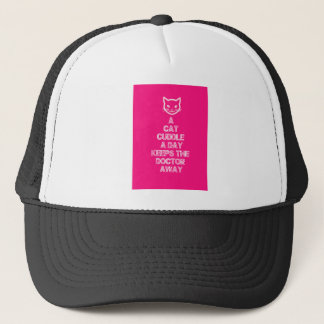 A Cat Cuddle A Day Keeps The Doctor Away Trucker Hat