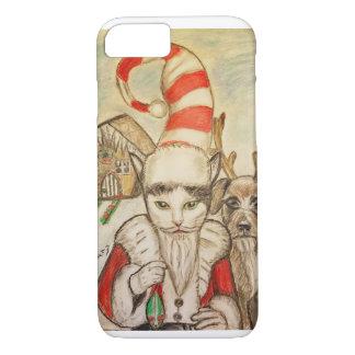 A Cat in a Santa Hat iPhone 7 Case