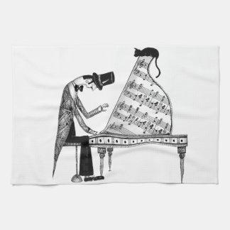 A cat named Sonata Tea Towel
