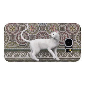 A cat on the mosaic