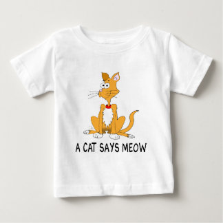 A Cat Says Meow Baby T-Shirt