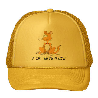A Cat Says Meow Trucker Hat