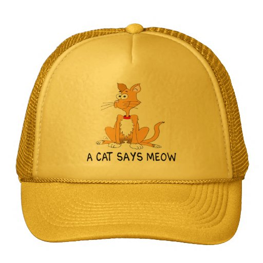 A Cat Says Meow Trucker Hats
