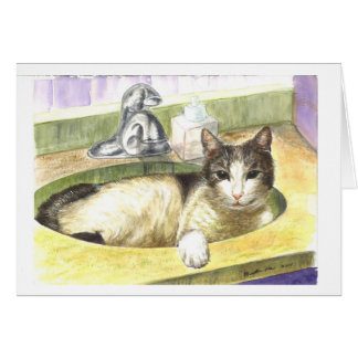 A Cat's Favorite place Greeting Card