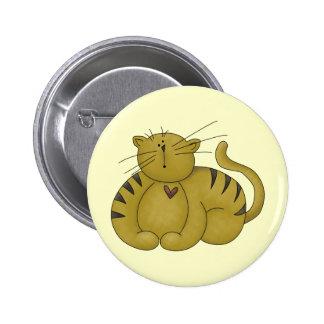 A Cats Heart Button