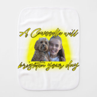 A Cavoodle will Brighten your Day. Burp Cloth