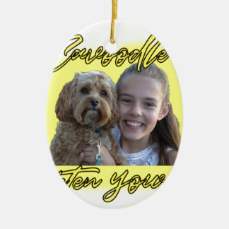 A Cavoodle will Brighten your Day. Ceramic Ornament