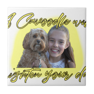 A Cavoodle will Brighten your Day. Ceramic Tile