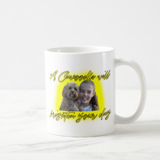 A Cavoodle will Brighten your Day. Coffee Mug
