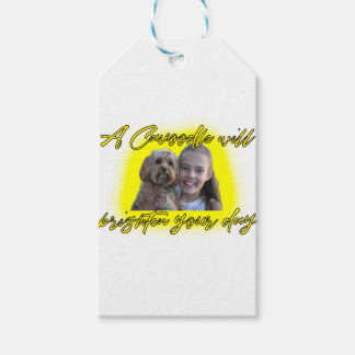 A Cavoodle will Brighten your Day. Gift Tags