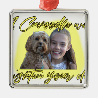 A Cavoodle will Brighten your Day. Metal Ornament