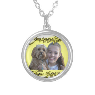 A Cavoodle will Brighten your Day. Silver Plated Necklace