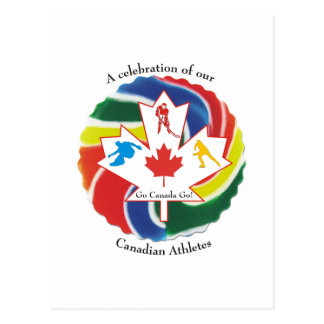 A Celebration of our Canadian Athletes Postcard