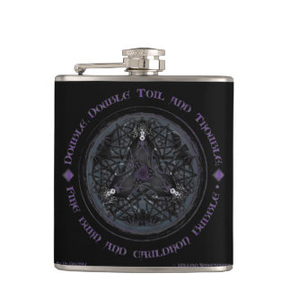 A Celtic Witches' Brew Hip Flask