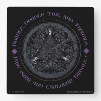 A Celtic Witches' Brew Square Wall Clock