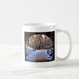 A Central Park Bridge In Winter Coffee Mug