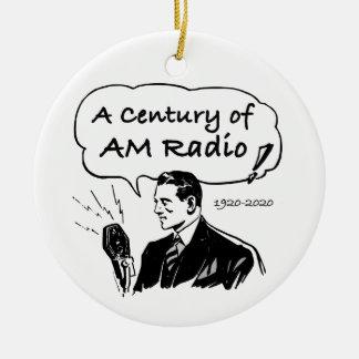 A Century of AM Radio Ceramic Ornament