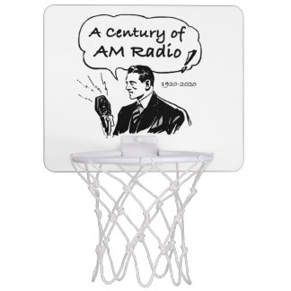 A Century of AM Radio Mini Basketball Hoop