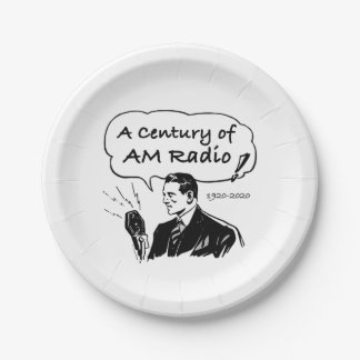 A Century of AM Radio Paper Plate