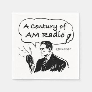 A Century of AM Radio Paper Serviettes