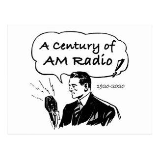 A Century of AM Radio Postcard