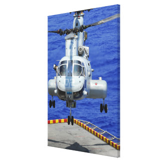 A CH-46E Sea Knight helicopter Gallery Wrap Canvas