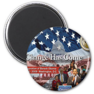 A Change Has Come - The 2009 Obama Inaugural 6 Cm Round Magnet