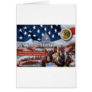 A Change Has Come - The 2009 Obama Inaugural Greeting Card