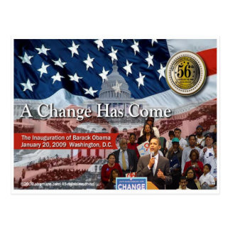 A Change Has Come - The 2009 Obama Inaugural Postcard