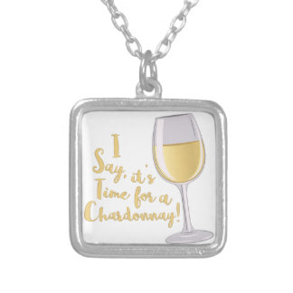A Chardonnay Silver Plated Necklace