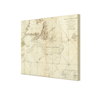 A Chart Of The Banks Of Newfoundland Canvas Print
