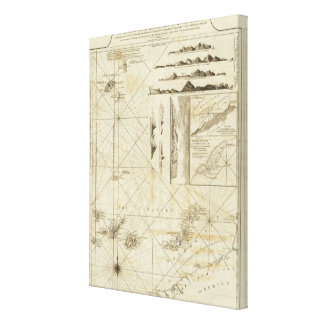 A chart of the Maderas and Canary Islands Canvas Prints