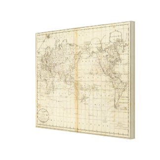 A Chart of the World Canvas Prints