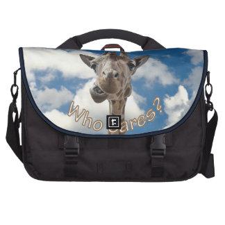 A cheeky Giraffe with attitude Laptop Messenger Bag