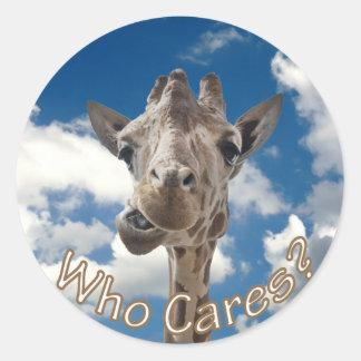 A cheeky Giraffe with attitude Round Sticker