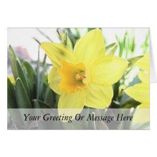 A Cheerful Yellow Daffodil Card
