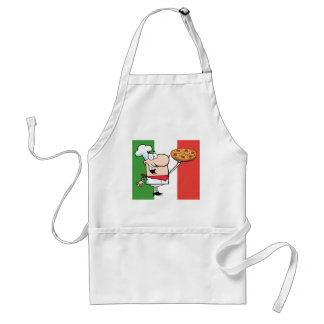 A Chef Holds Up Pizza Standard Apron
