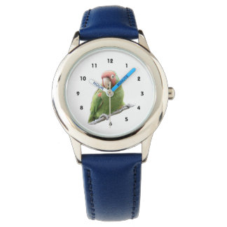 A Cherry Headed Conure Wrist Watch